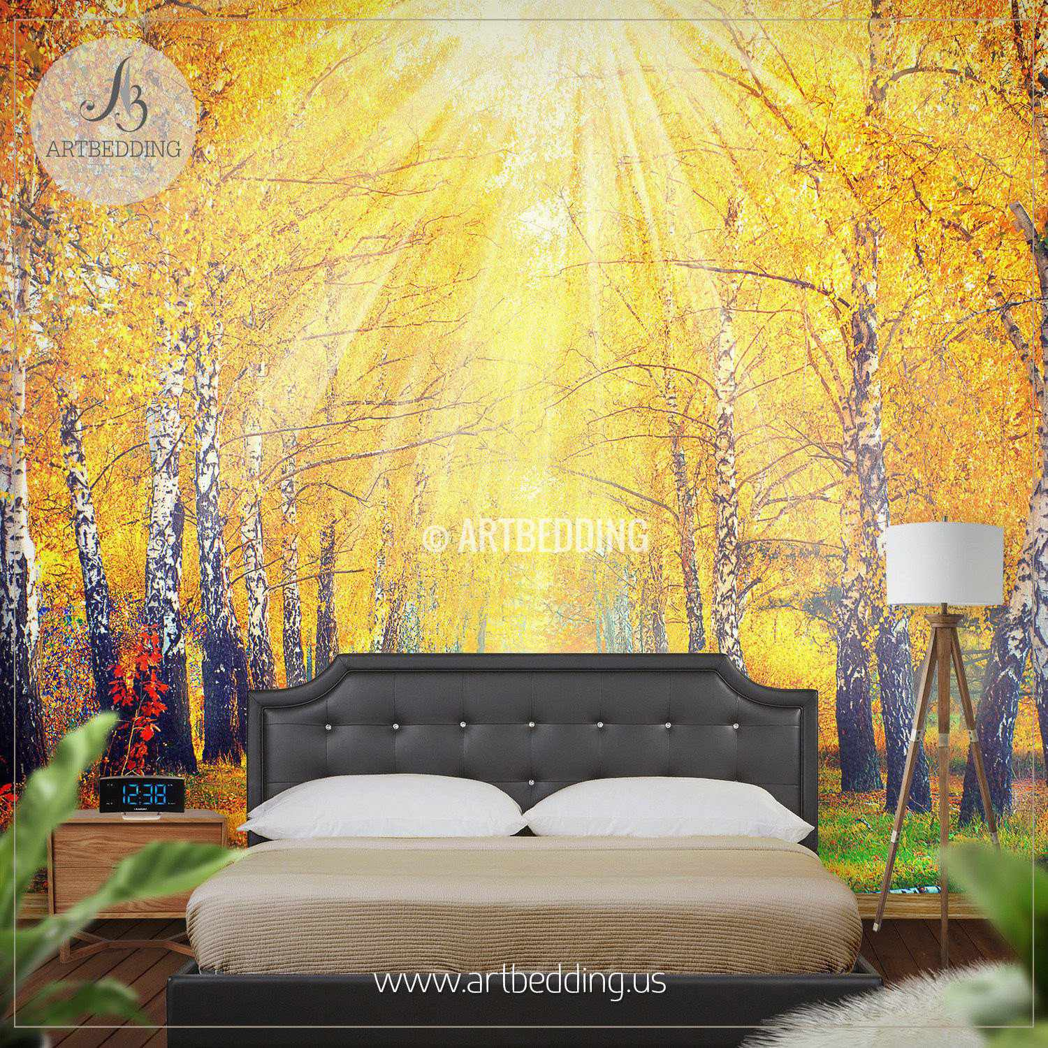 ... Beautiful Autumn Scene Wall Mural, Photo Mural Self Adhesive Peel U0026  Stick, Wall Mural ...