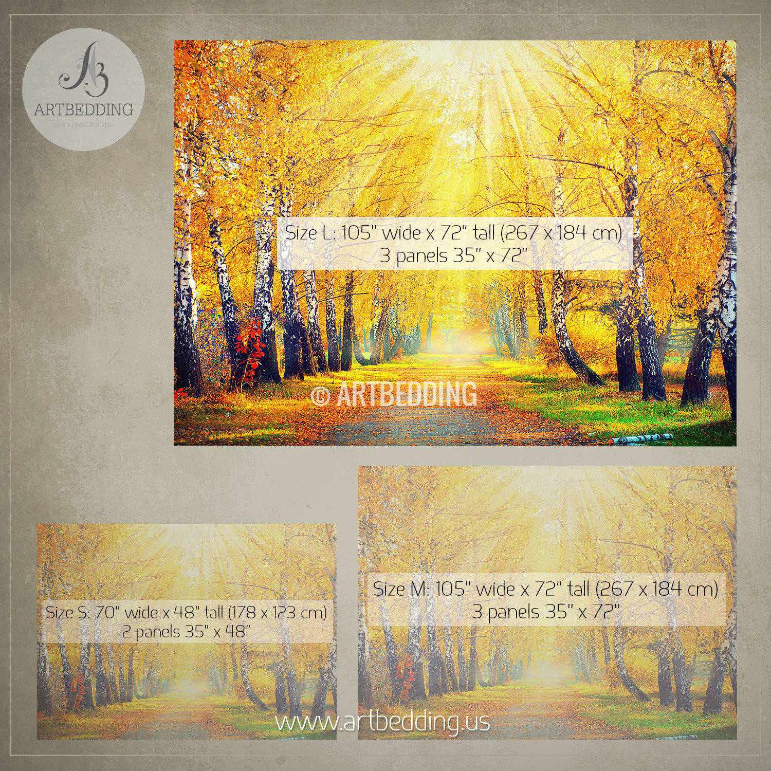 Beautiful Autumn scene photo wall mural - ARTBEDDING
