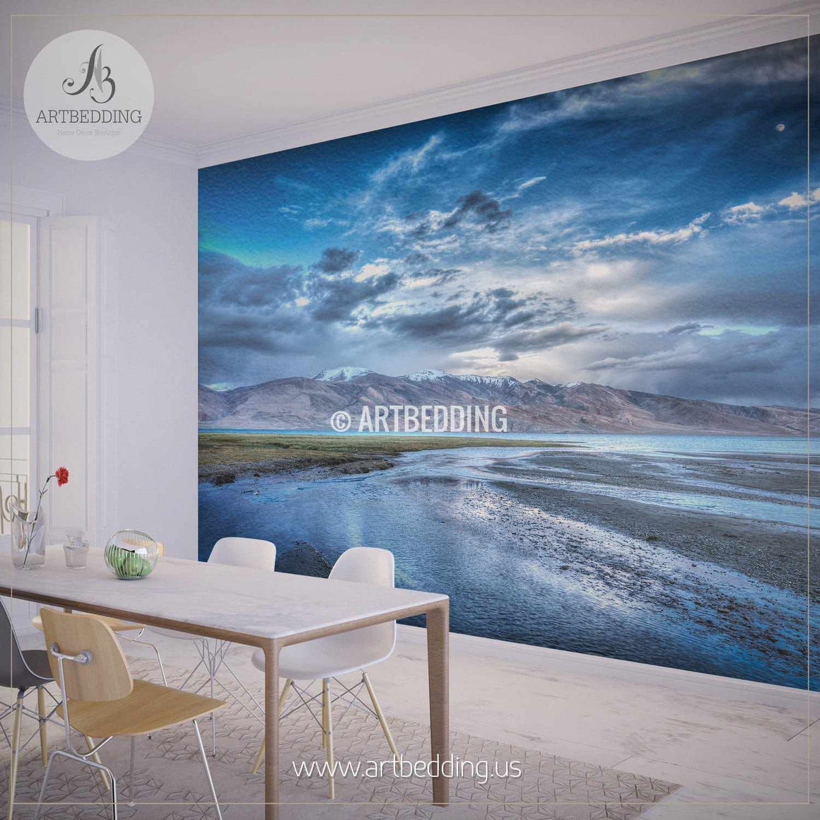 beautiful mountain landscape wall mural self adhesive peel u0026 stick photo mural nature photo