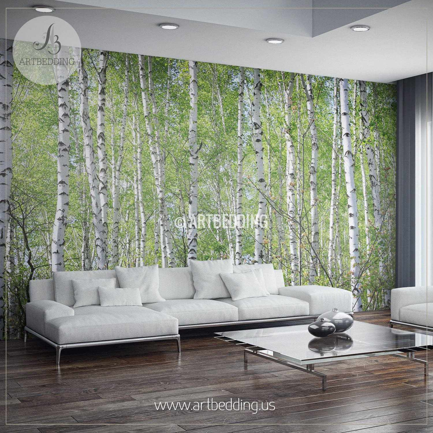 Lovely ... Birches In Forest Wall Mural, Photo Mural Self Adhesive Peel U0026 Stick, Wall  Mural ... Part 23