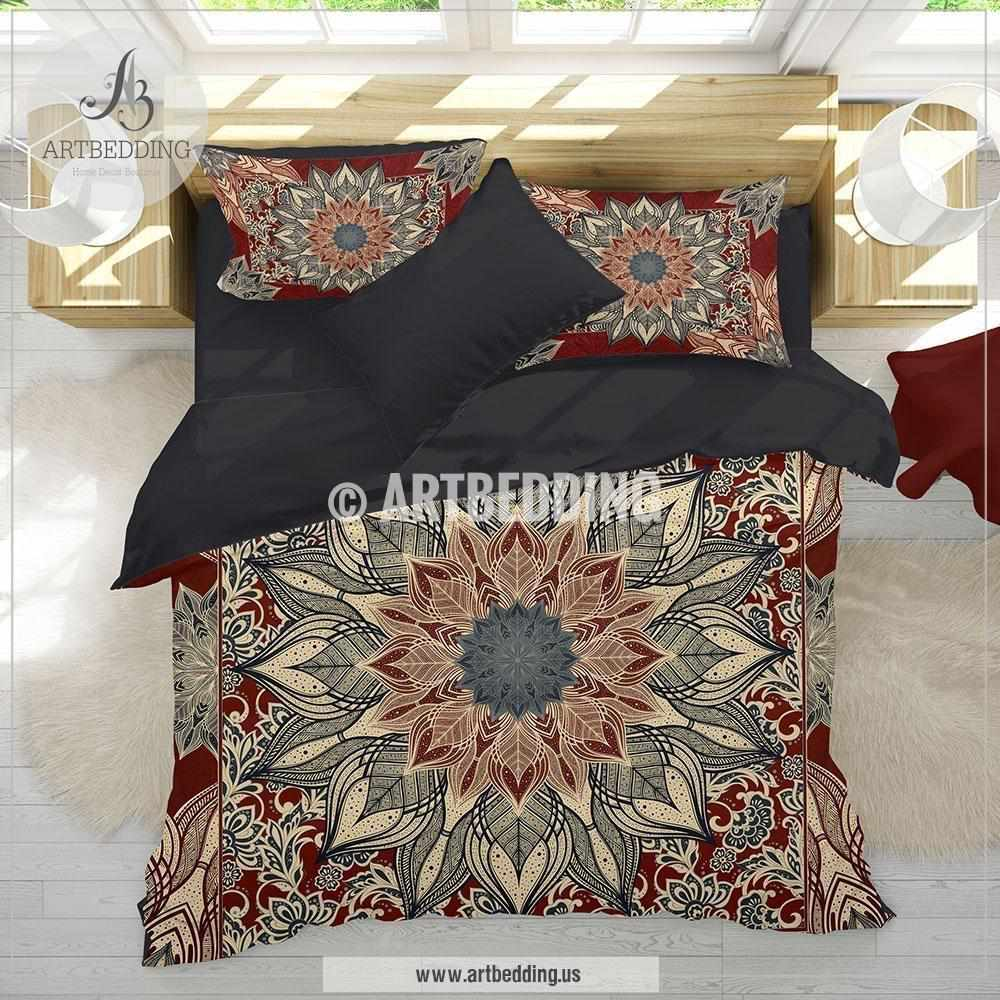 mandala handloom indian set pillows with cover comforter cotton boho products bedding jaipur