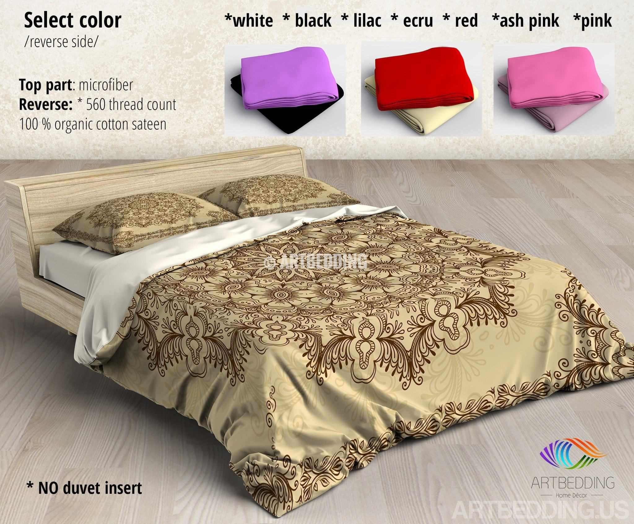 duvet shams comforter quilt red set bohemian cover luxury product bedding boho medallion and print burgundy paisley damask