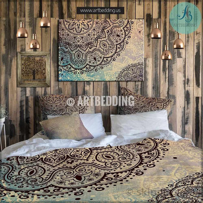 Bohemian bedding, Mandala boho duvet bedding set, Indie duvet cover set, Hippie bedding, boho bedspread Bedding set