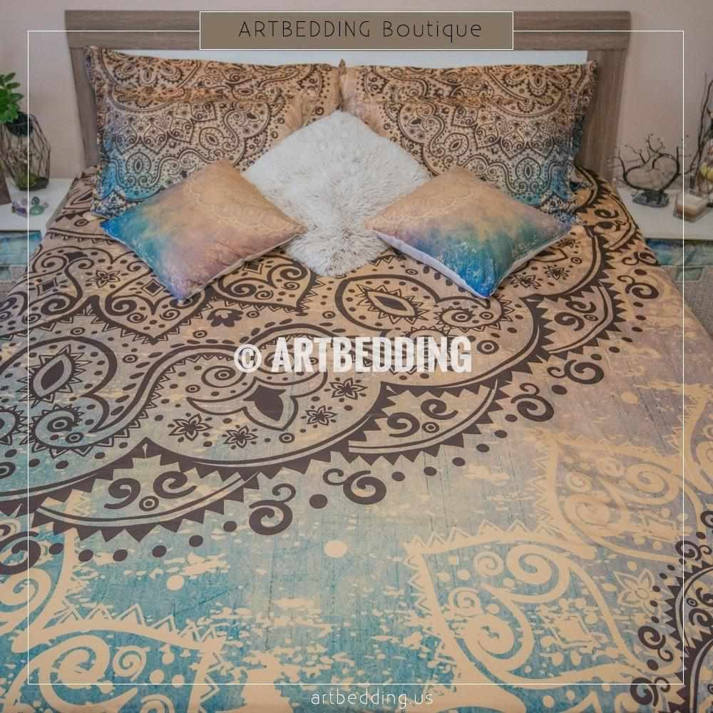 chic bedding large shams set medallions duvet envogue more moroccan with boho cover colorful pin bohemian comforter sets