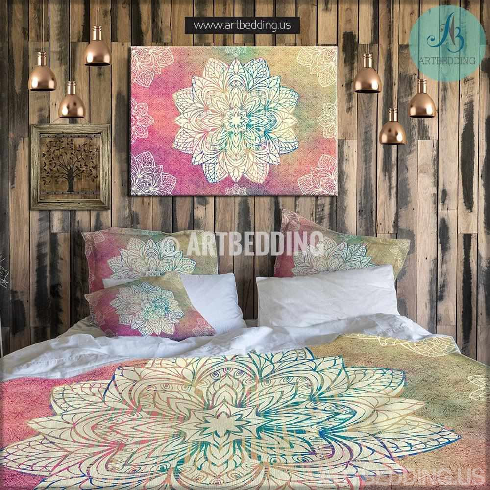 ... Bohemian Bedding, Mandala Duvet Cover Set, Bohochic Rustic Bedroom,  Bohemian Vintage Decor Bedding ...