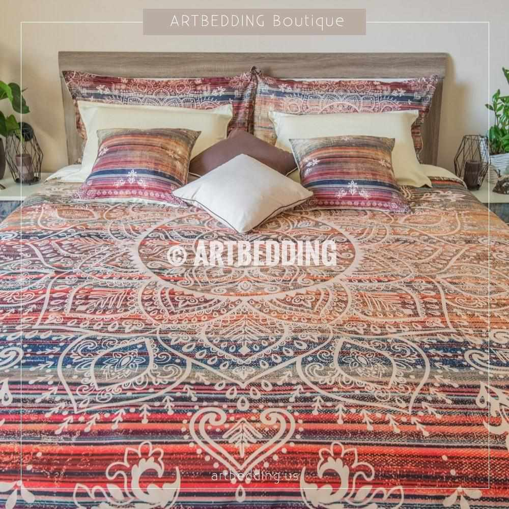 duvet print chic cover world boho artbedding set watercolor grunge dorm bedspread college art comforter map products bedding splashes