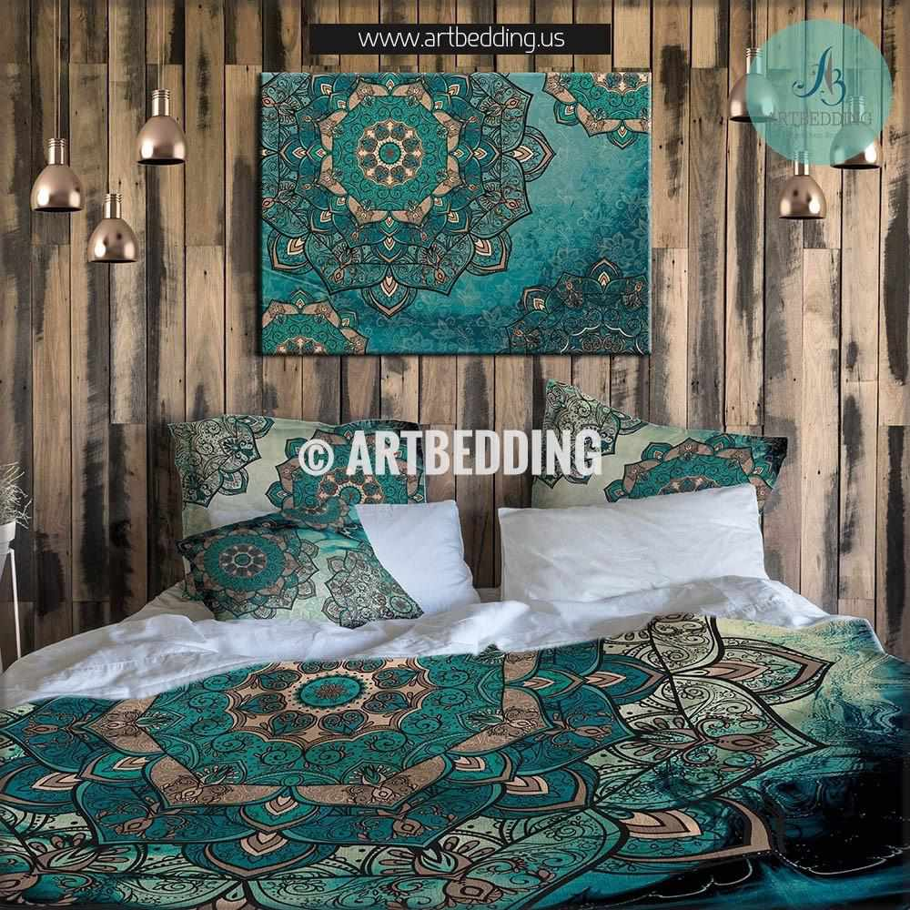 HIS AND HER SIDE DUVET QUILT COVER BEDDING SET ~ DOUBLE KING ~ RED BLACK TEAL