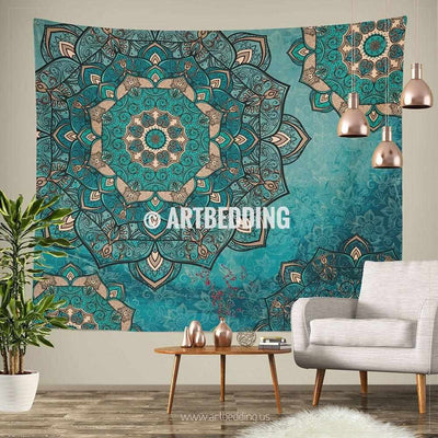 Bohemian TAPESTRY, Deco vintage mandala Wall hanging, Boho Mandala Wall Decor, Mandala Indie Tapestry, artbedding wall art Tapestry