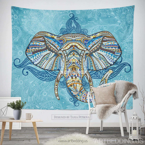 Bohemian Tapestry Elephant Wall Tapestry Hippie Tapestry