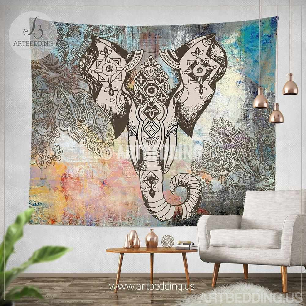 Elephant Wall Hanging bohemian tapestry, elephant wall tapestry, hippie tapestry wall