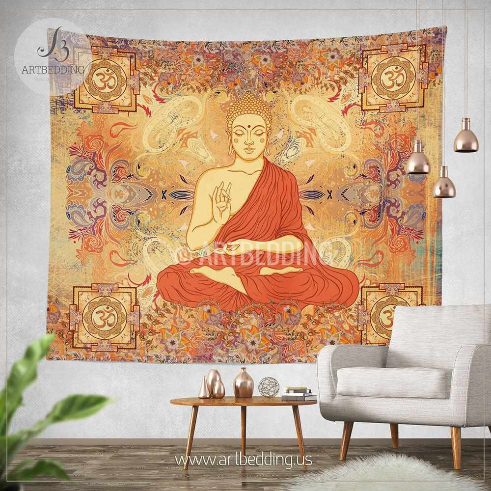 Tapestry Wall Art boho tapestry, sacred yantra wall tapestry, hippie tapestry wall