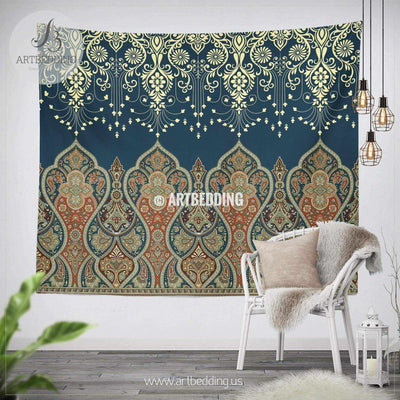 Boho indie paisley TAPESTRY, Indie paisley vintage Wall hanging, Ethno indie Tapestry, Boho wall decor Tapestry