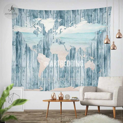 Boho tapestry, World map ocean wall Tapestry, Boho soul decor, Hippie tapestry wall hanging, bohemian wall tapestries,  bohemian decor Tapestry