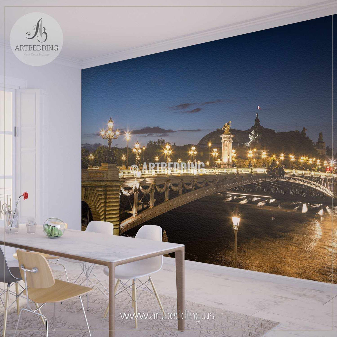 Bridge of the Alexandre III, Paris Cityscape Wall Mural, France Photo sticker, France wall decor wall mural