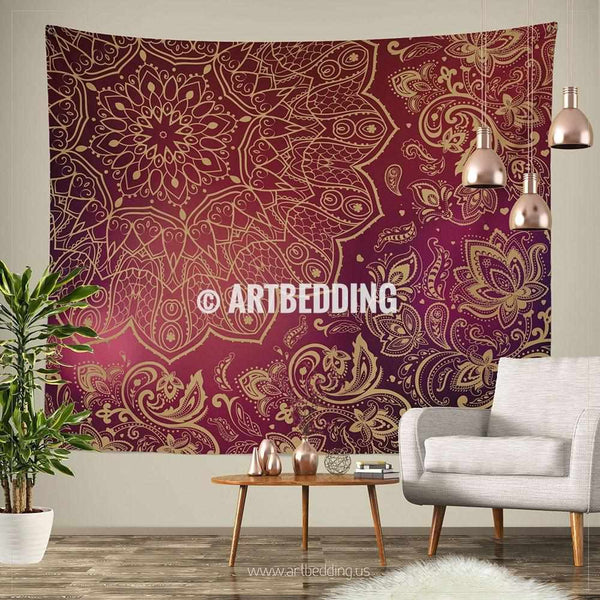 Mandala tapestry mehendy henna ethno mandala wall for Decor thesaurus