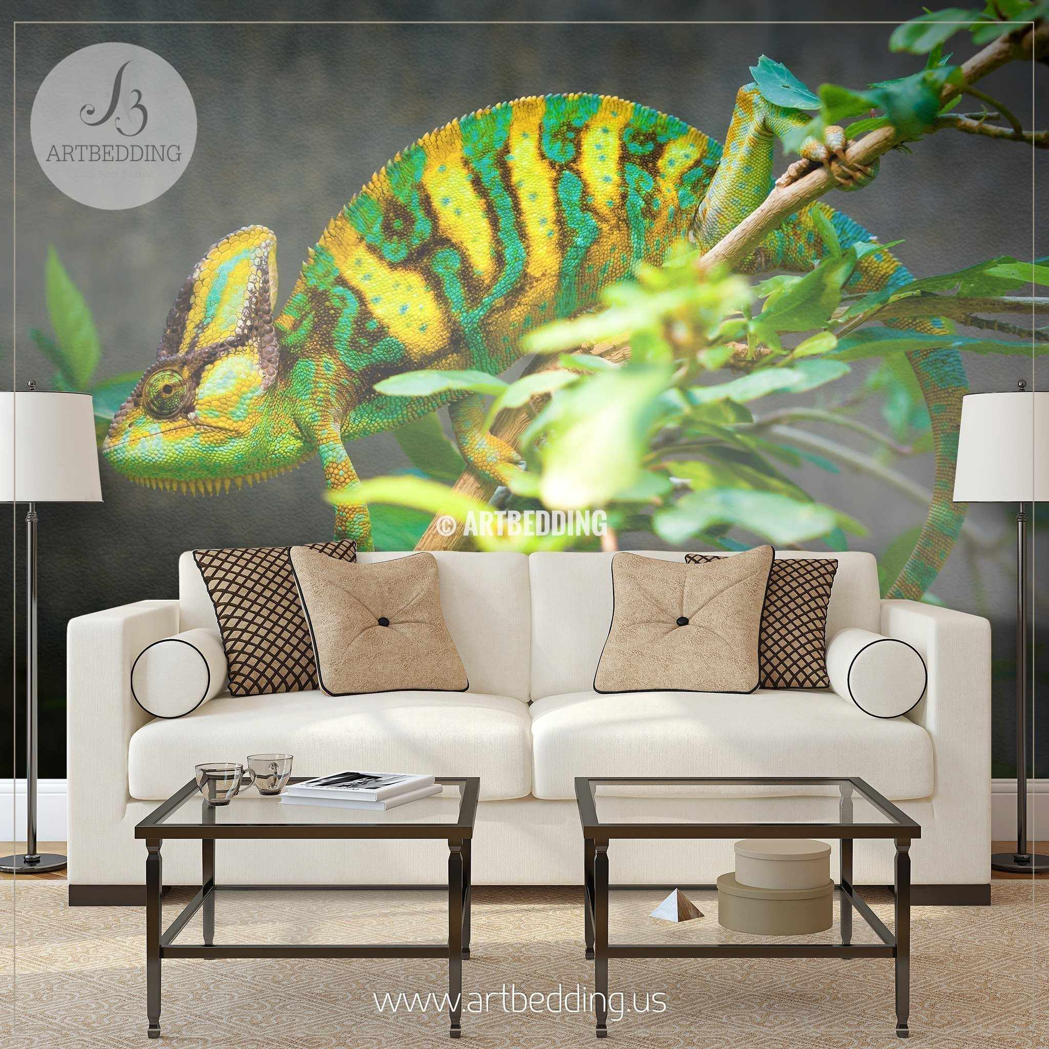 Chameleon wall mural chameleon self adhesive peel stick photo chameleon wall mural chameleon self adhesive peel stick photo mural beautiful chameleon wallpaper amipublicfo Image collections
