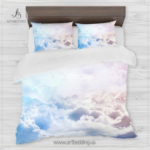 Clouds bedding, Blue sky with white clouds Bedding set ...