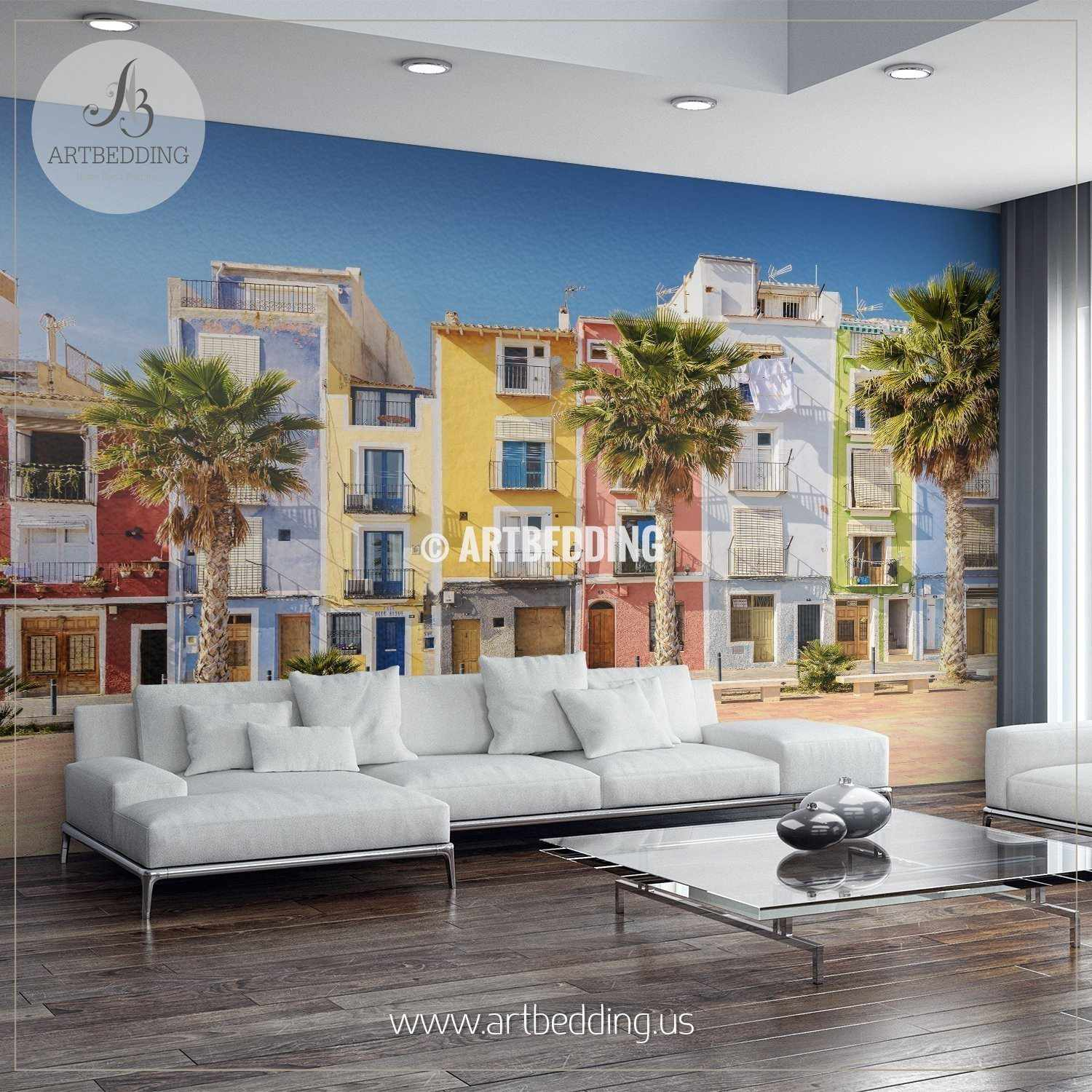 Southern wall decor image collections home wall decoration ideas wall murals wall tapestries canvas wall art wall decor tagged colorful homes in seaside villa of amipublicfo Images