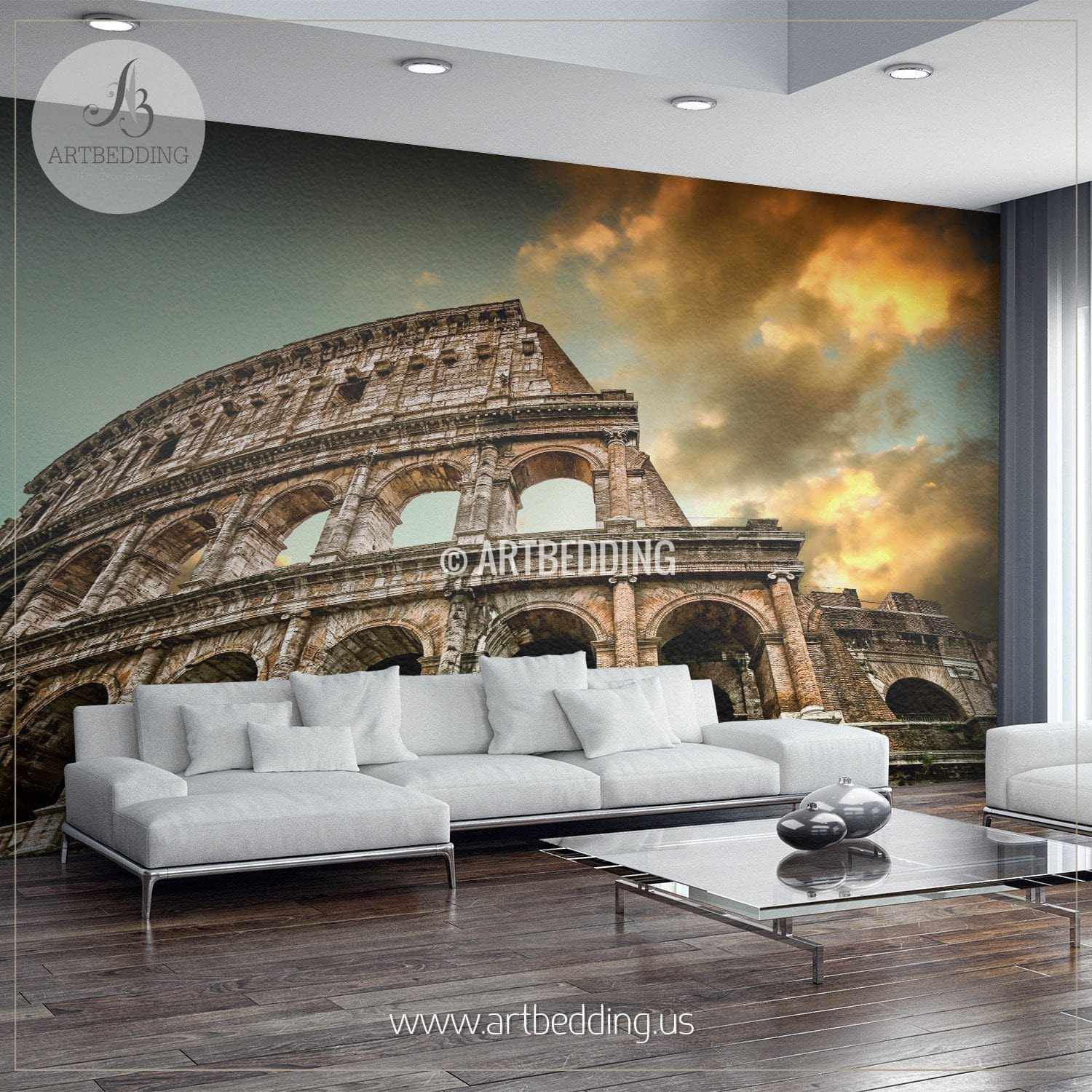 Colosseum in rome cityscape wall mural italy photo for City scape wall mural