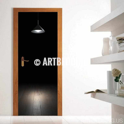 Door sticker dark room self-adhesive vinyl