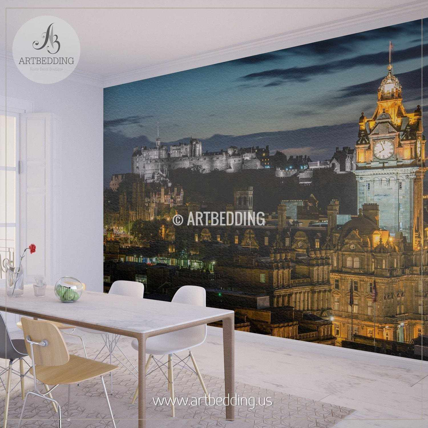 Wall murals wall tapestries canvas wall art wall for Cityscape mural