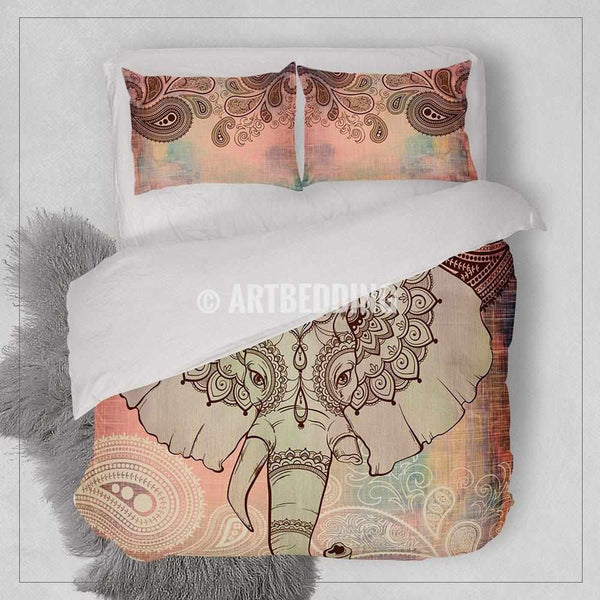 Elephant Bedding Bohemian Duvet Cover Set Boho Indie