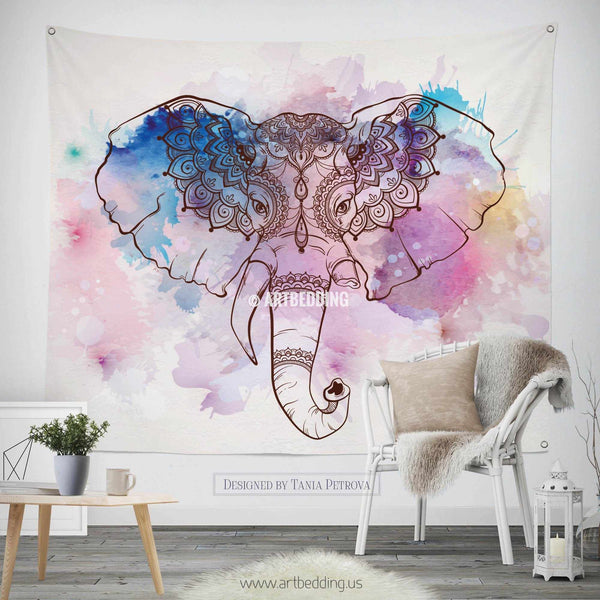 Elephant Tapestry Bohemian Wall Tapestry Hippie Tapestry