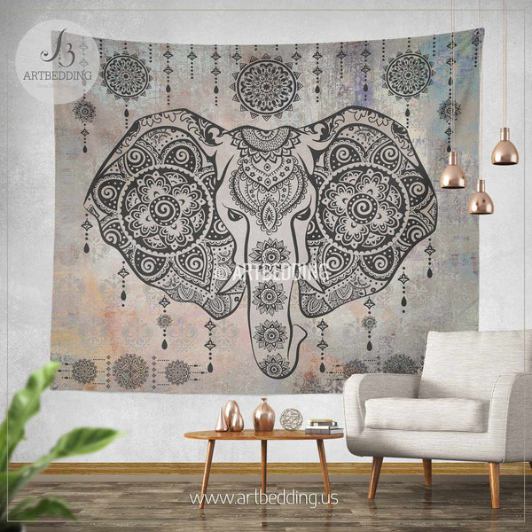 Elephant Tapestry Elephant Wall Tapestry Indie Tapestry