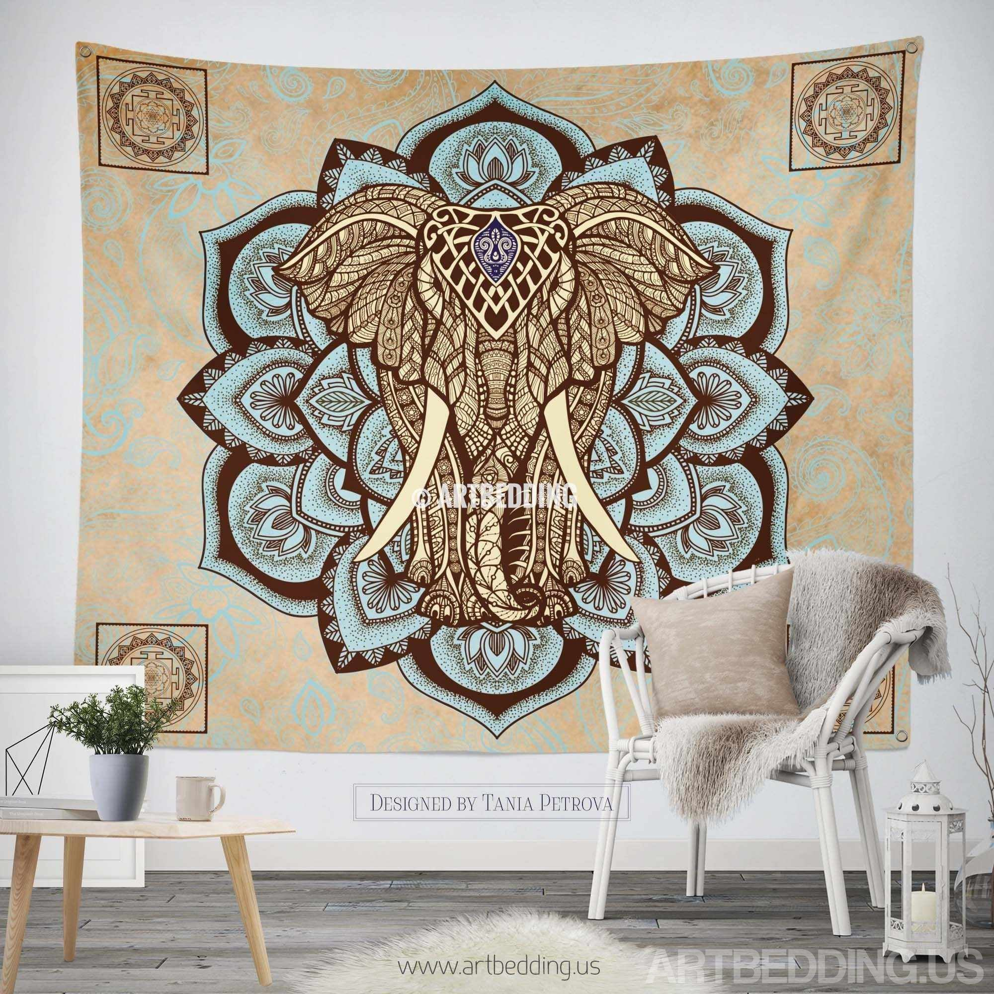 ... Elephant Tapestry, Lotus Wall Tapestry,Hippie Tapestry Wall Hanging, Bohemian  Wall Tapestries, ...