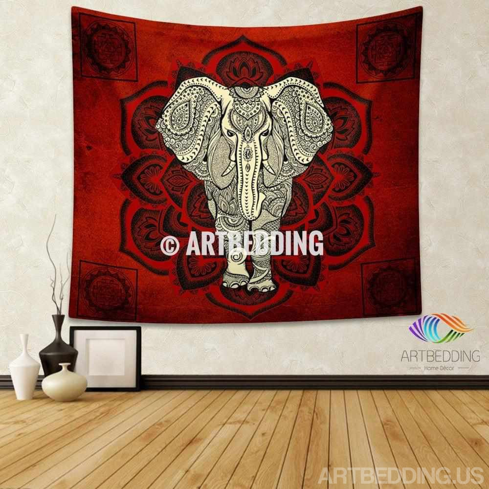 Tapestry Wall Hanging elephant tapestry, mandala wall tapestry, hippie tapestry wall