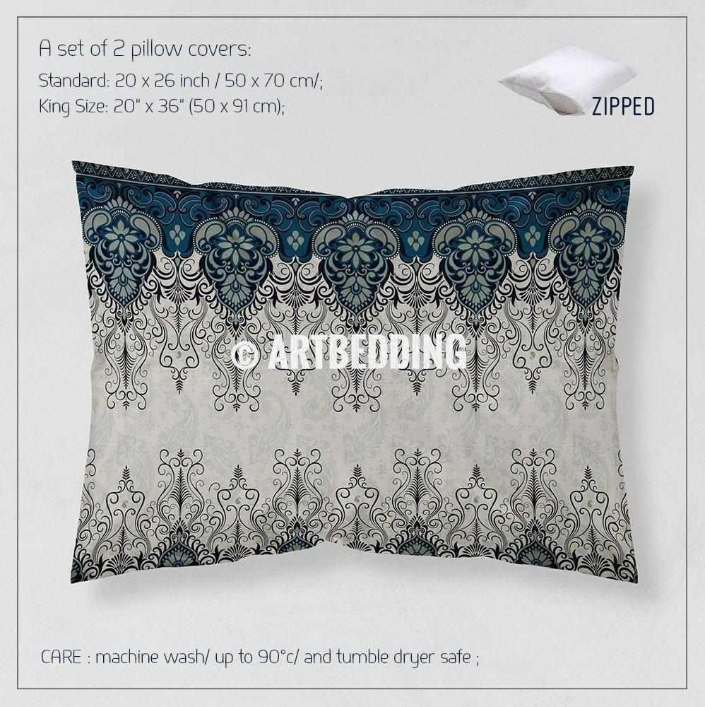 Ethno Indian Paisley Bedding Indie Motifs Tan Duvet Cover