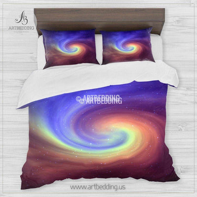 Galaxy bedding, Abstract space Bedding set, Galaxy print Duvet Cover, 3D galaxy bedding Bedding set