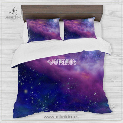 Galaxy bedding, Deep space Bedding set, Galaxy print Duvet Cover, 3D galaxy bedding Bedding set
