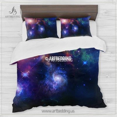 Galaxy bedding set, Fantasy cosmos duvet cover set, Cosmos bedroom decor Bedding set