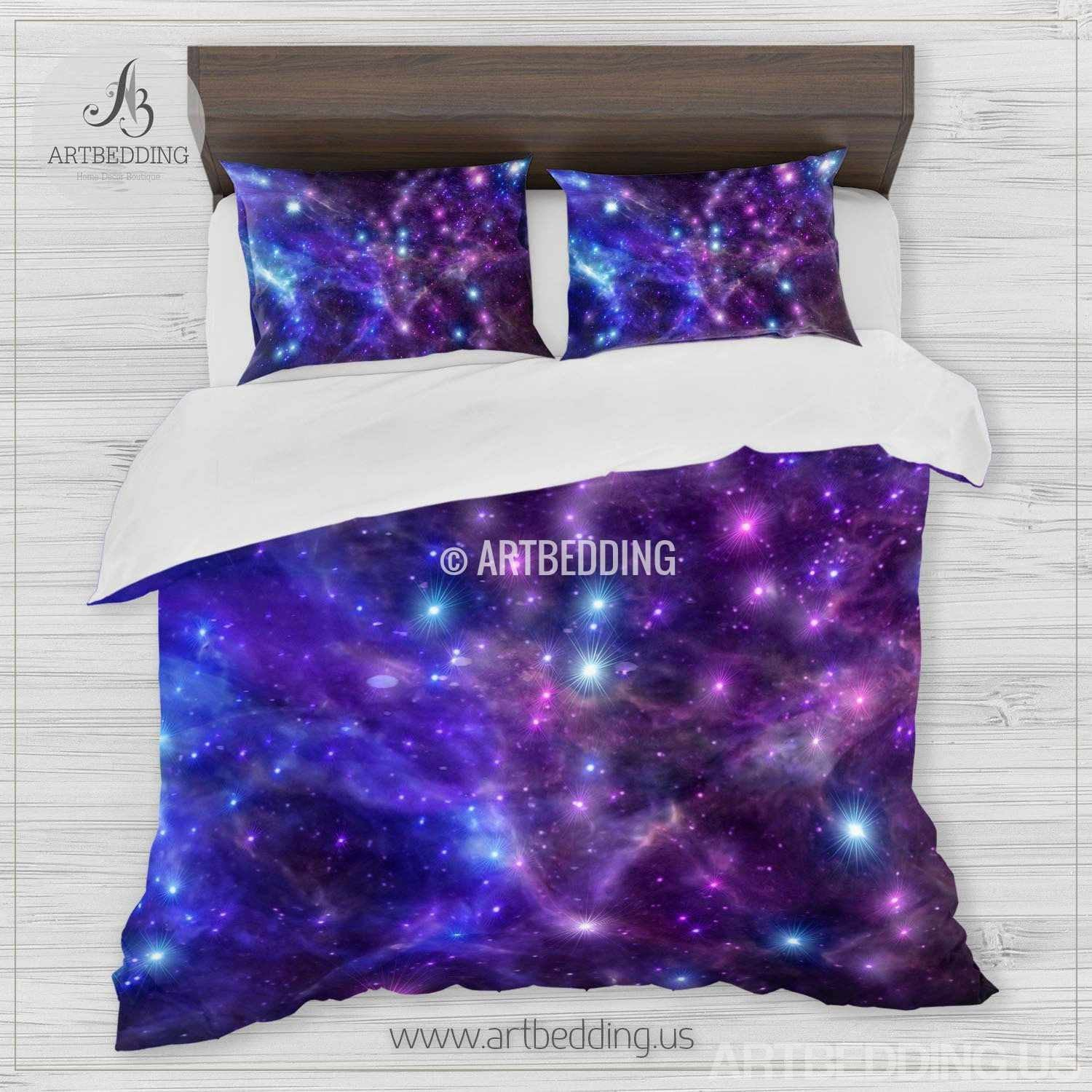 Galaxy Bedding Set Space Duvet Cover Set Deep Space
