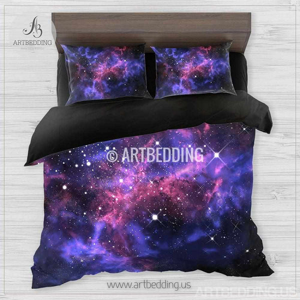 Galaxy Bedding Set Space Duvet Cover Set Stars Nebula