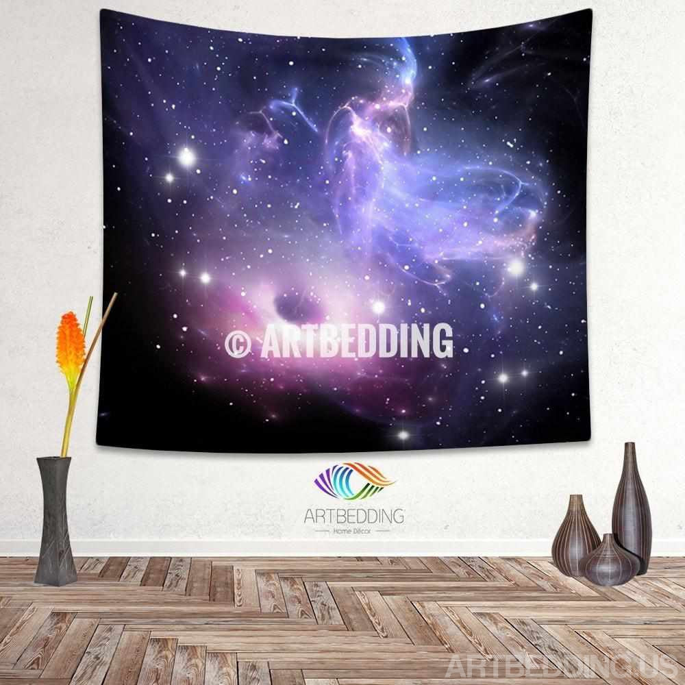 Galaxy Tapestry, Black hole wall tapestry, Galaxy tapestry wall hanging, Purple space wall tapestries, Galaxy home decor, Space wall art print
