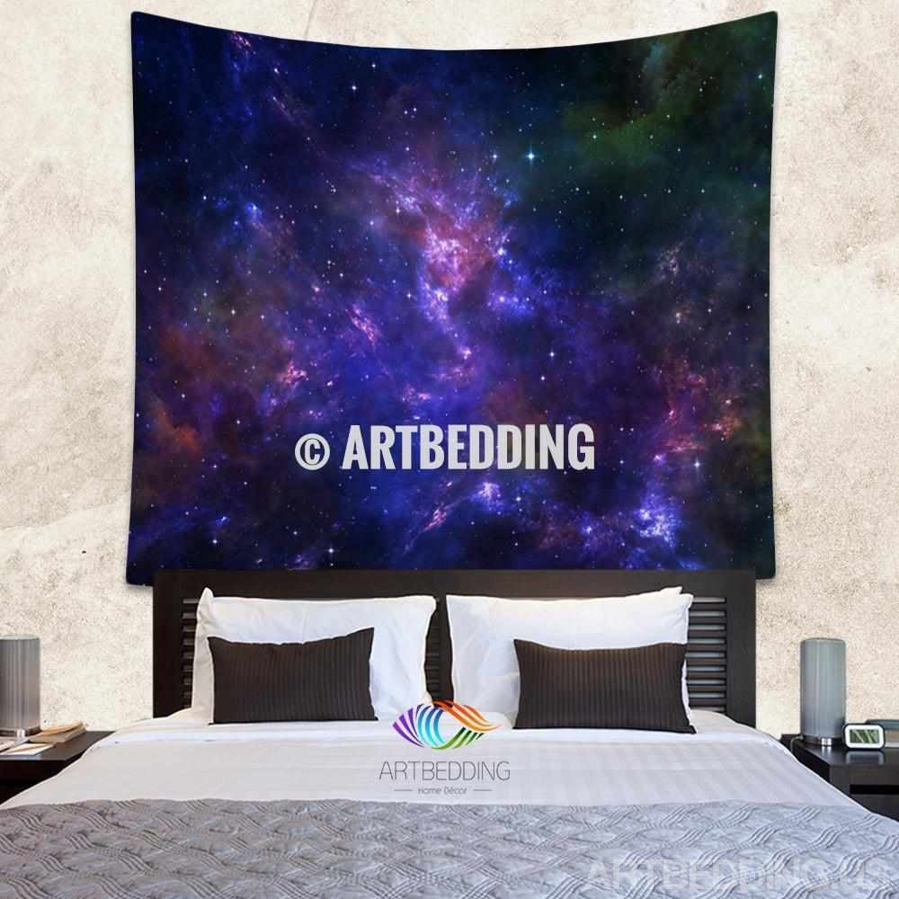 Galaxy Tapestry,Deep space nebula with stars wall tapestry, Galaxy tapestry wall hanging, Stars galaxy wall tapestries, Galaxy home decor, Space wall art print, Space wall hanging, Space multicolor nebula galaxy wall art