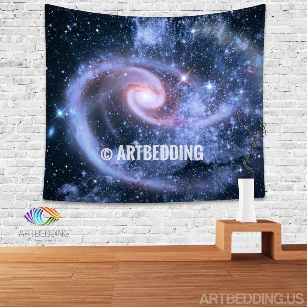 Galaxy Tapestry, Deep space spiral galaxy wall tapestry, Galaxy tapestry wall hanging, Spiral galaxy with stars wall tapestries, Galaxy home decor, Space wall art print