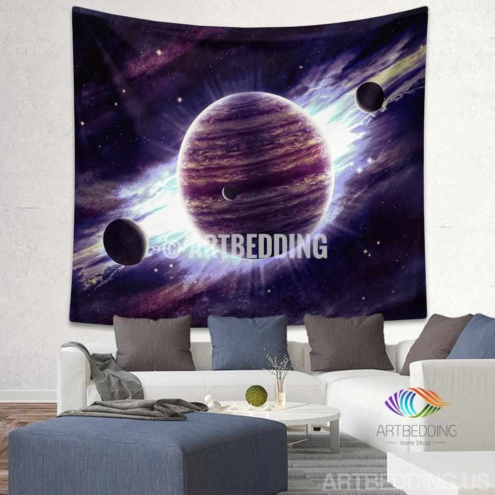 Galaxy Tapestry , Fantasy space wall tapestry, Space tapestry wall hanging, Galaxy home decor
