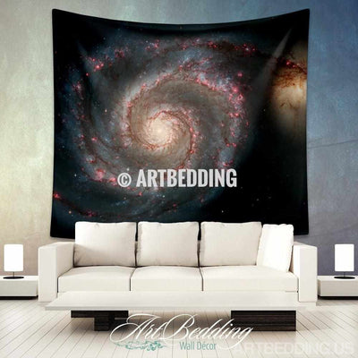 Galaxy Tapestry, Green spiral galaxy wall tapestry, Galaxy tapestry wall hanging, Spiral galaxy wall tapestries, Galaxy home decor, Space wall art print