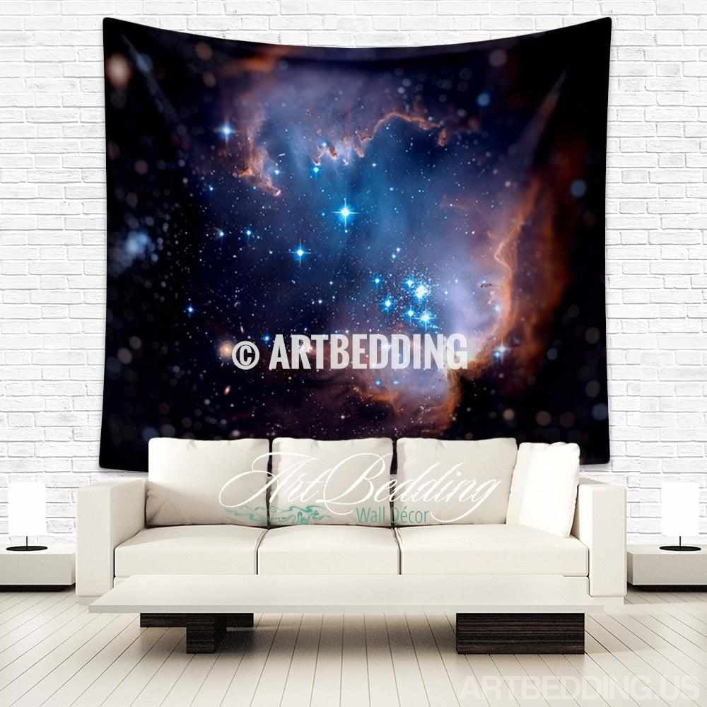 Galaxy Tapestry, Magellanic cloud wall tapestry, Galaxy tapestry wall hanging, nebula wall tapestries, Galaxy home decor