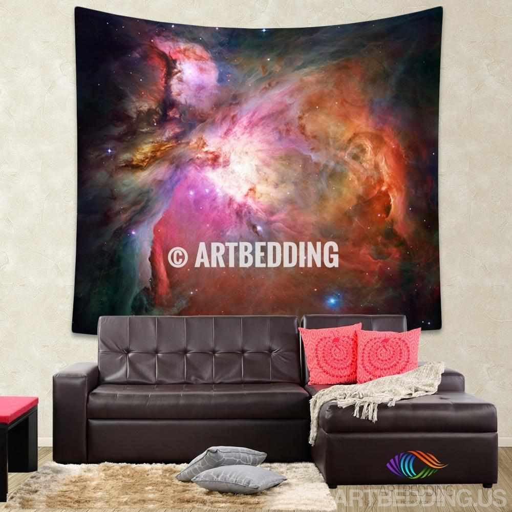 Galaxy Tapestry, Orion nebula wall tapestry,  constellation of Orion tapestry wall hanging, Milky Way wall tapestries, Galaxy home decor, Space wall art print