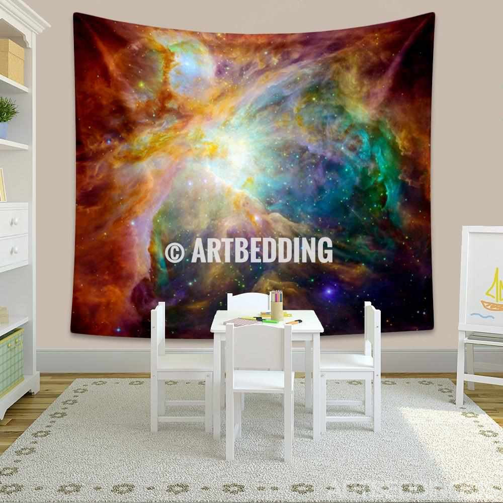 Galaxy Tapestry, Orion nebula wall tapestry,  constellation of Orion tapestry wall hanging, Milky Way wall tapestries, Multicolor Galaxy home decor, Space wall art print