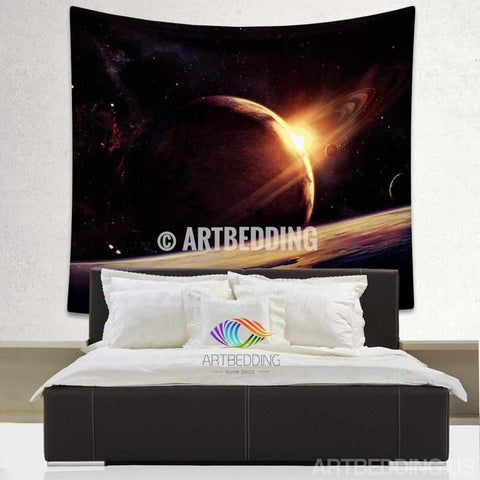Galaxy Tapestry , Planet space wall tapestry, Space tapestry wall hanging, Galaxy home decor