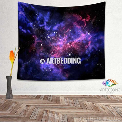 Galaxy Tapestry, Space stars nebula wall tapestry, Galaxy tapestry wall hanging, Galaxy home decor, Stars wall art print