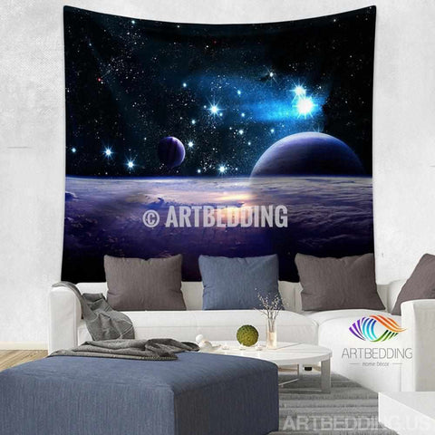 Galaxy Tapestry , Space wall tapestry, Space tapestry wall hanging, Galaxy home decor