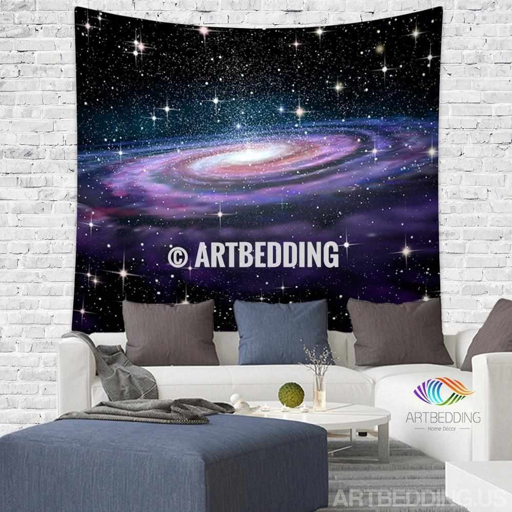 galaxy tapestry spiral galaxy in deep space with stars wall galaxy tapestry spiral galaxy in deep space with stars wall tapestry galaxy tapestry wall