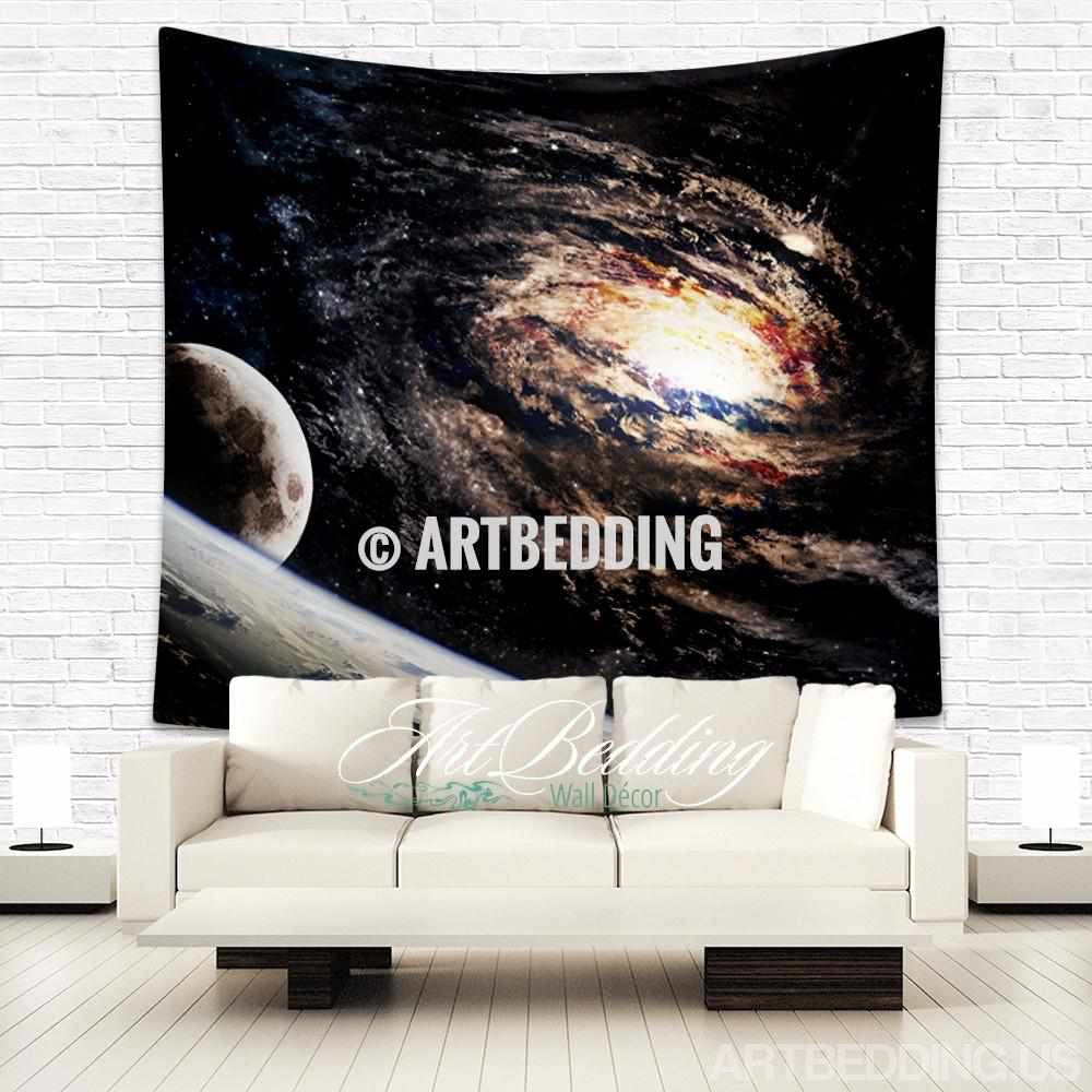 Galaxy Tapestry, Spiral galaxy wall tapestry, Galaxy tapestry wall hanging, Spiral galaxy wall tapestries, Galaxy home decor, Space wall art print