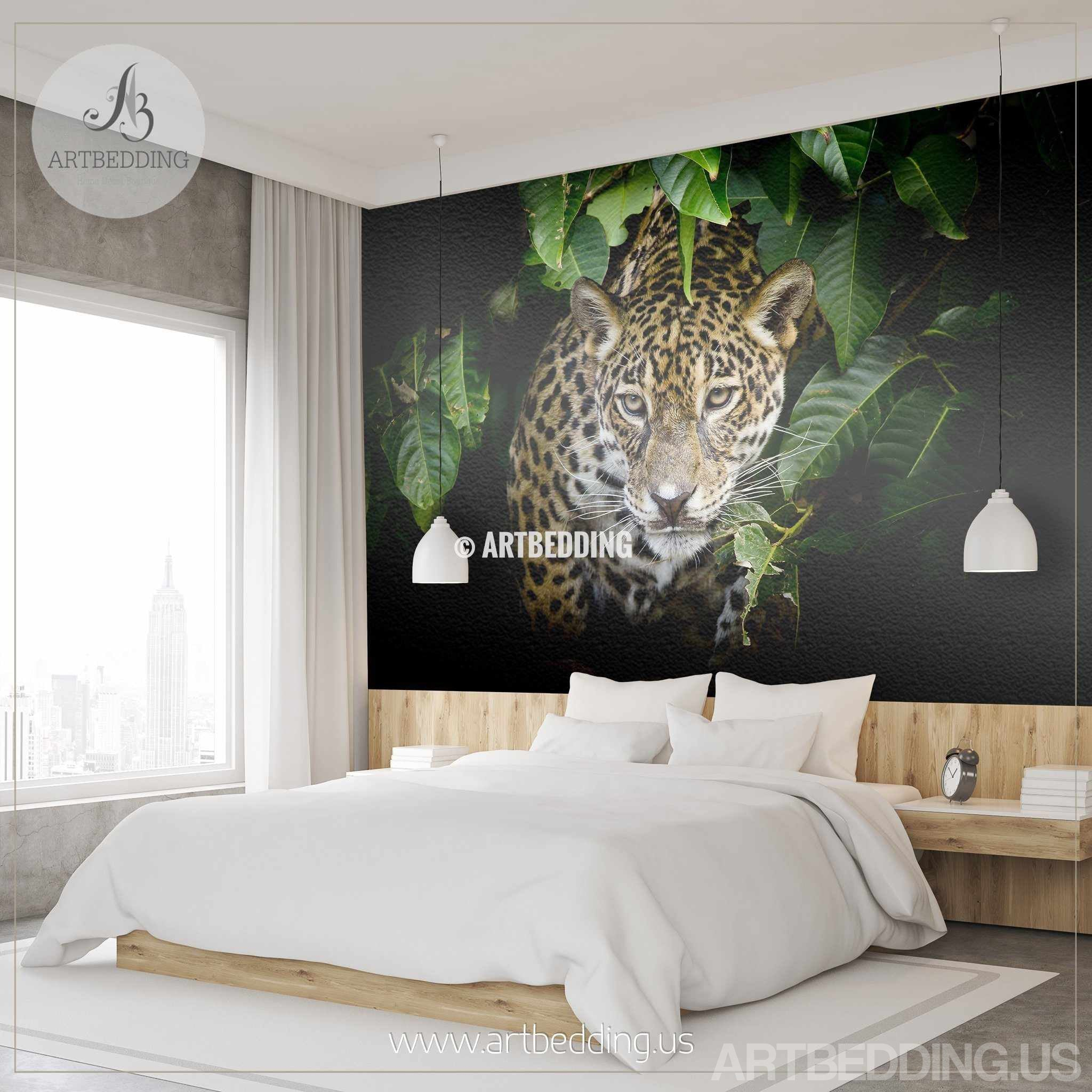 ... Jaguar Wall Mural, Jaguar Self Adhesive Peel U0026 Stick Photo Mural, Wild  Jaguar Portrait ... Part 47